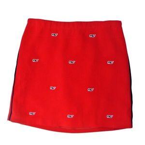 NEW Vineyard Vines Red Whale Skirt Girls 12